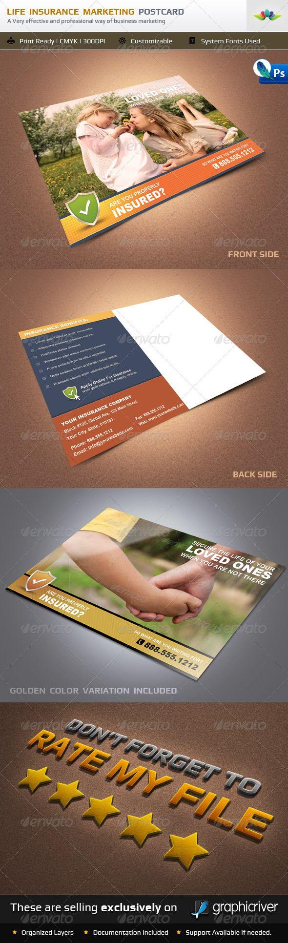 Life Insurance Marketing Postcard Life Insurance Marketing