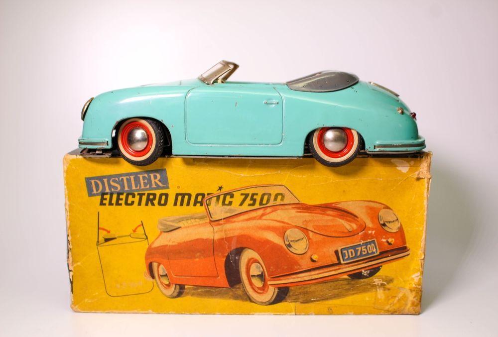 Ultra Scarce Distler Porsche 356 Electromanic 7500 With Original Box Porsche 356 Porsche Toy Trucks