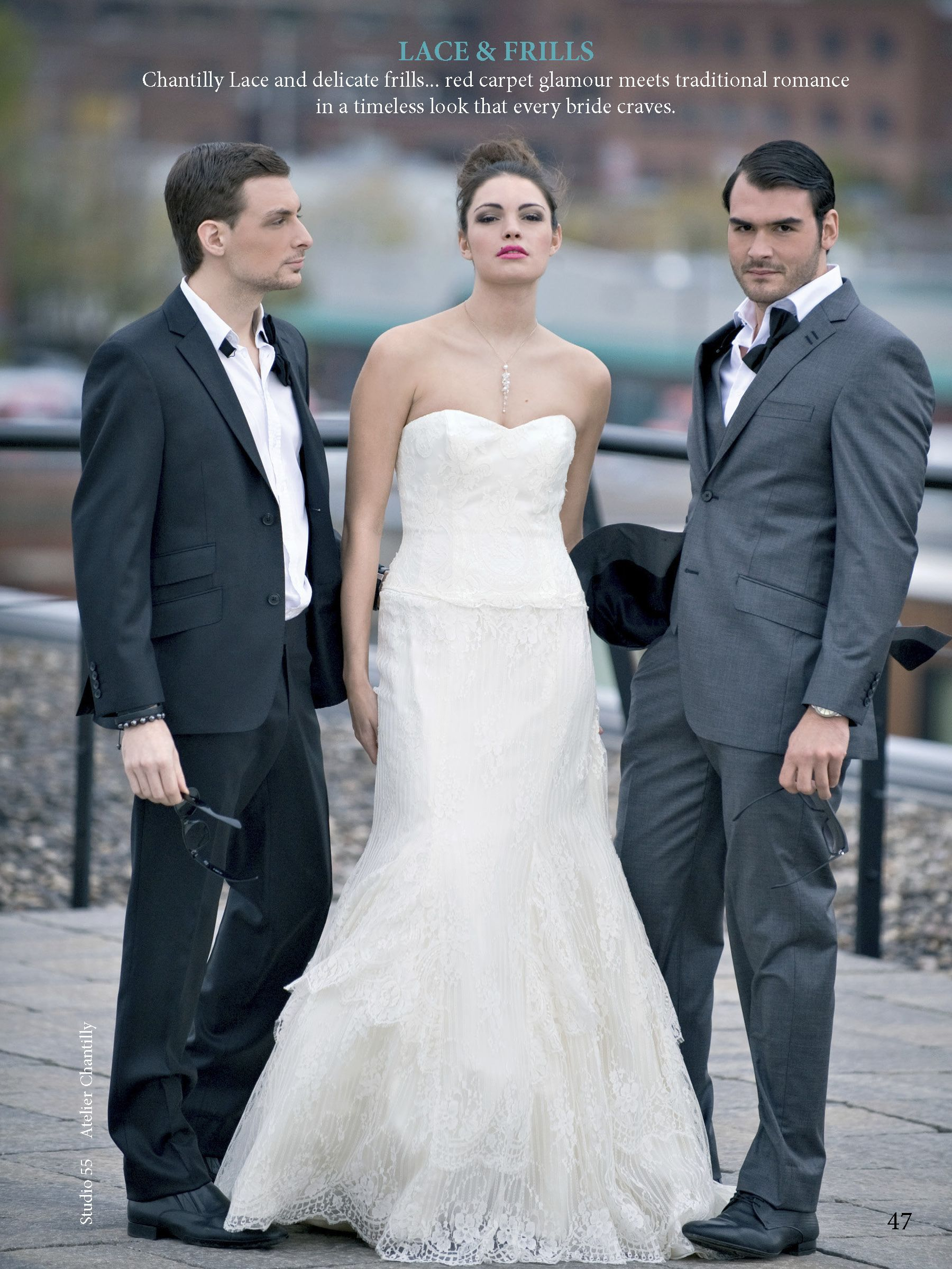 chantilly bridal gown & signor terry suits | MONTREAL WEDDINGS ...