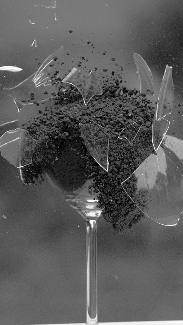 Glass Breaking Nature Art Dark Bw Iphone Wallpapers Nature Art