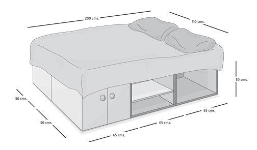 como hacer una base para cama - Buscar con Google | Para el hogar ...