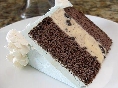 The Bake-Off Flunkie: Snowflake Ice Cream Cake