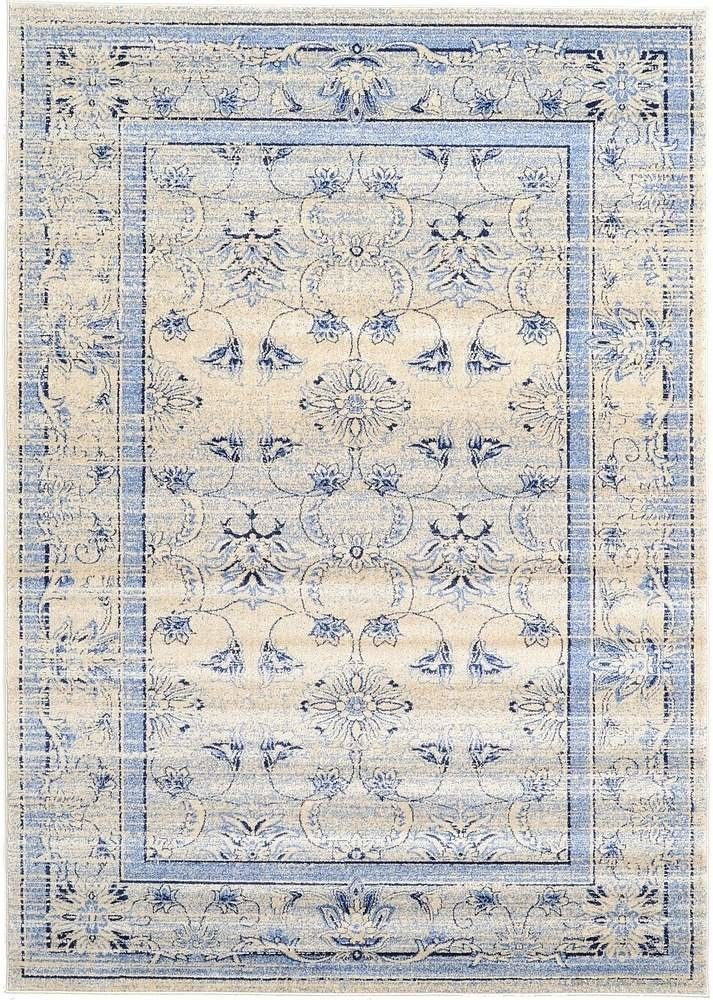 Imperial Ivory/Blue Area Rug