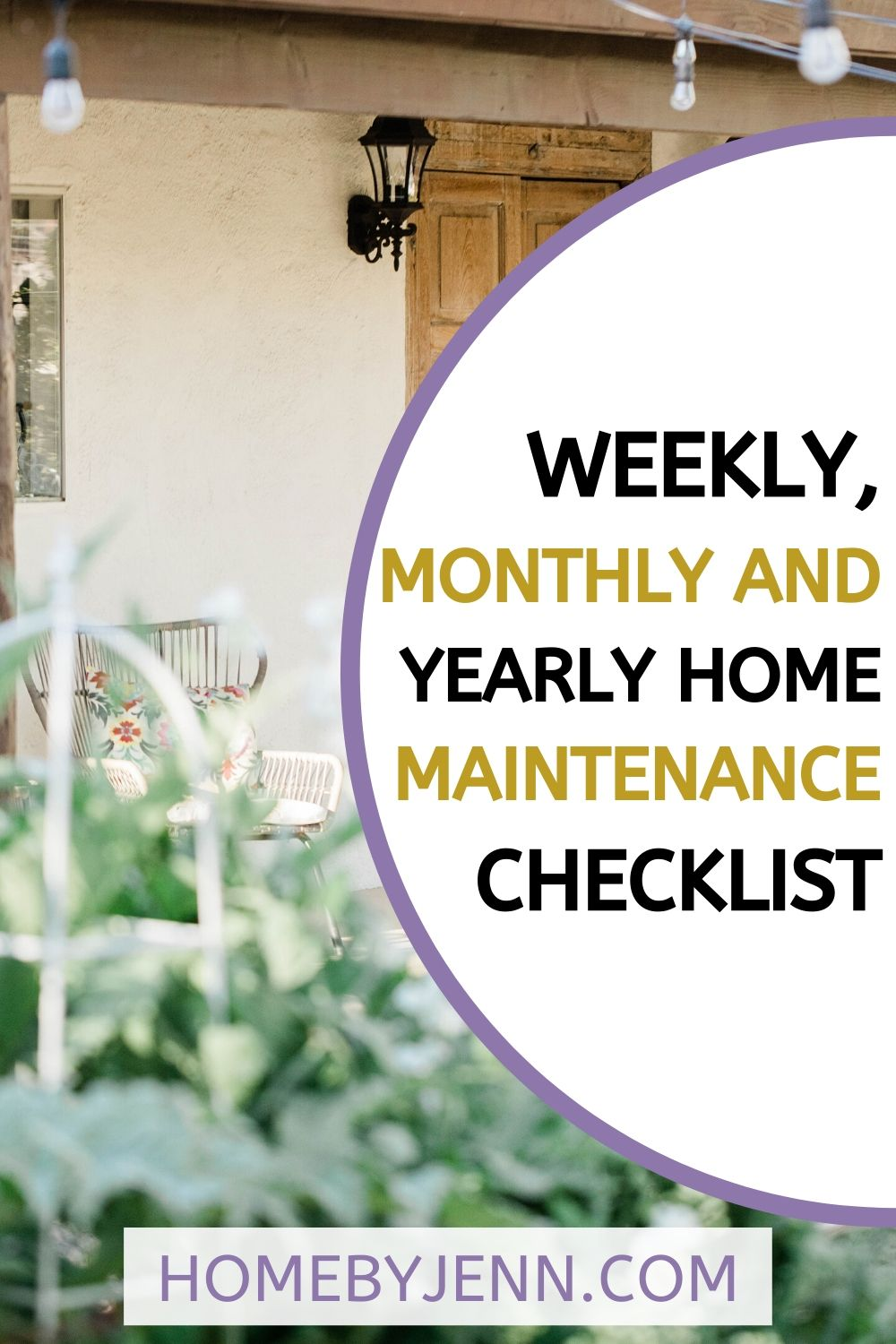Weekly  Monthly And Yearly Home Maintenance Checklist