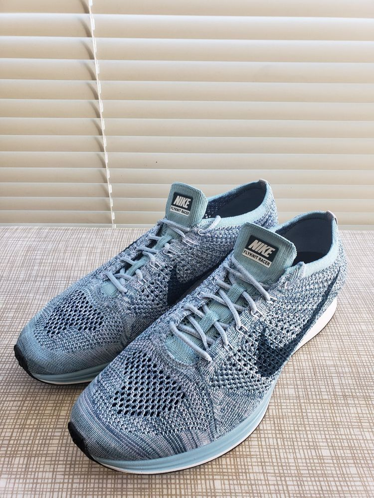 7bb16b7153c1b New Nike Flyknit Racer Men s. Running- White Legion Blue Mica 526628 102 Sz-13   fashion  clothing  shoes  accessories  mensshoes  athleticshoes (ebay link)