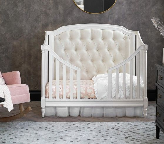 Blythe 3 In 1 Upholstered Convertible Crib With Images