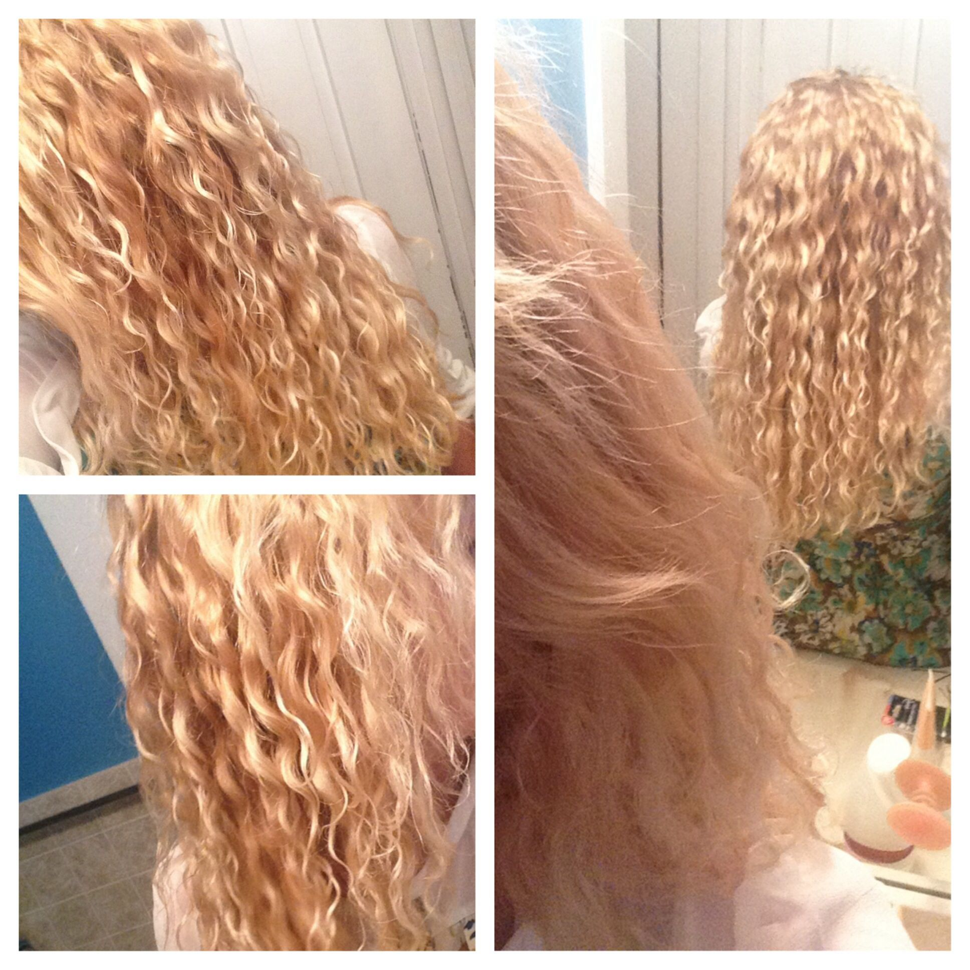 Body Wave Perm 2 Hours After This Should Calm Down And Be Less Poofy In A Week Or So I Hope Ramen Noodles No Noodle Hair Permanent Curls Body Wave Perm