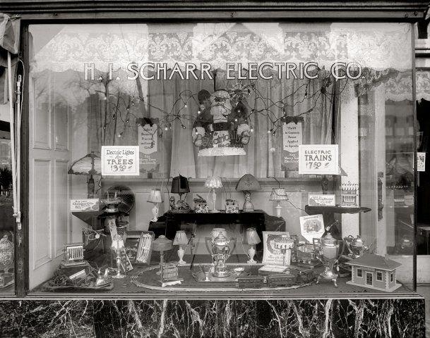 1920s Christmas Store Window Photo Vintage WindowsToy
