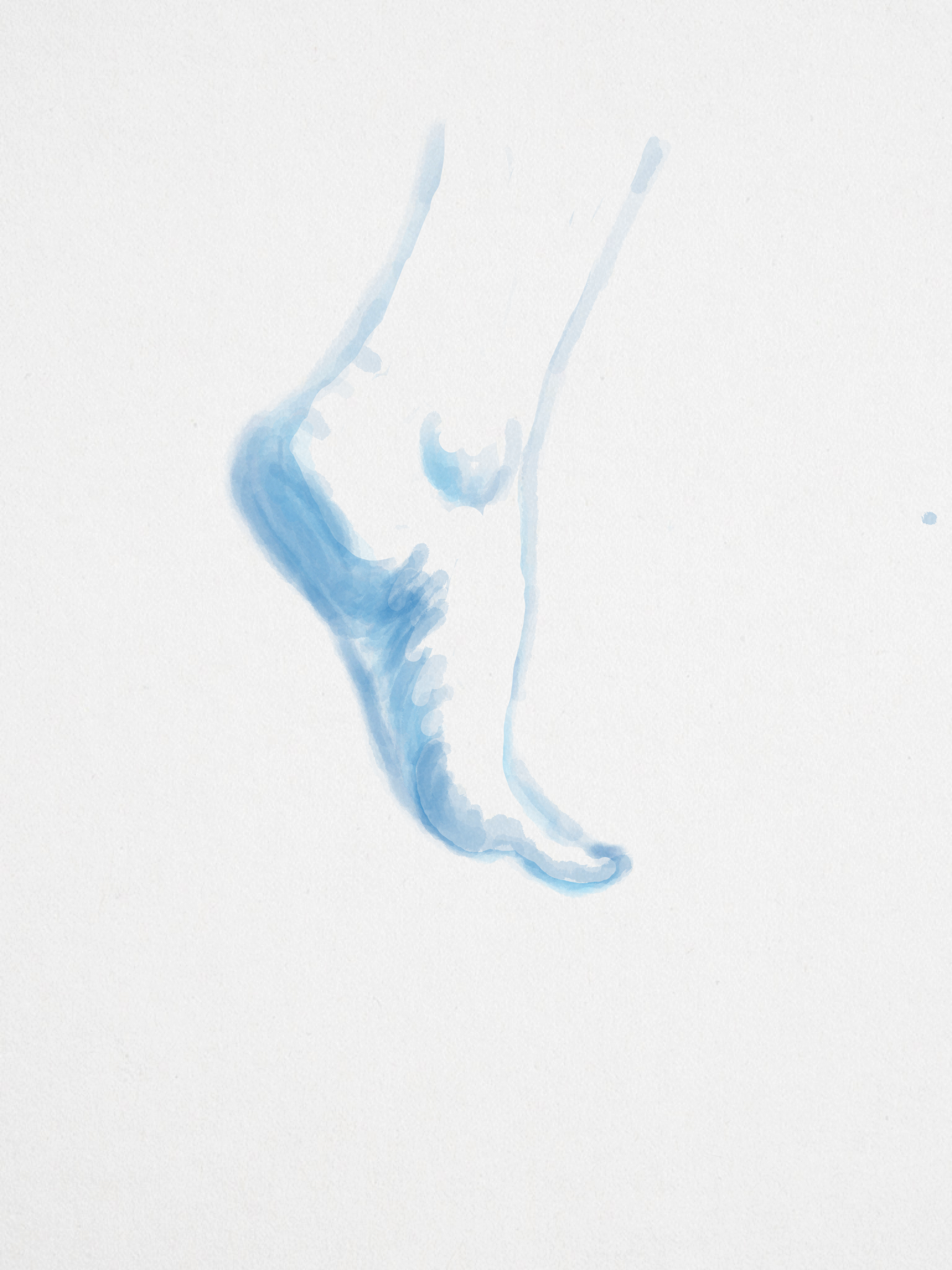 left foot on water color | The art of the human foot | Pinterest ...