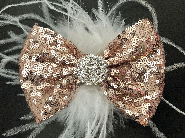 "X2 Wedding Flower Girls Christmas Small 2"" Girls Silver Hair Bow Snap Clips"