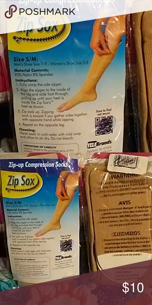 Zipper compression socks. These are the good kind. Nude color compression  socks with zipper
