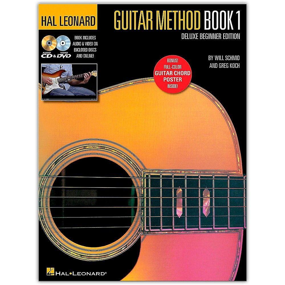 Hal Leonard Hal Leonard Guitar Method Book 1 Deluxe Beginner Edition Book Dvd Online Audio Poster Hal Leonard Guitar Guitar Lessons