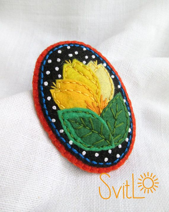 Yellow tulips felt brooch spring flowers easter gift gift for oval felt brooch yellow tulips a perfect gift for mom a wonderful gift for your girlfriend gift for anyone who loves flowers negle Image collections