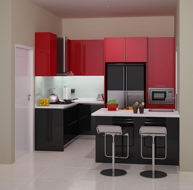 Harga 70 model gambar kitchen set minimalis memiliki for Harga kitchen set aluminium minimalis