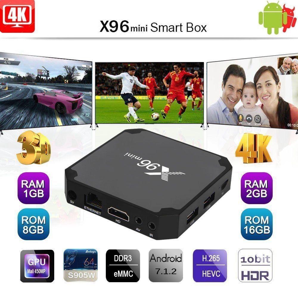 X96 Mini Android 7.1 4K WIFI 8G 16G Smart TV BOX Quad Core Backlight Keyboard