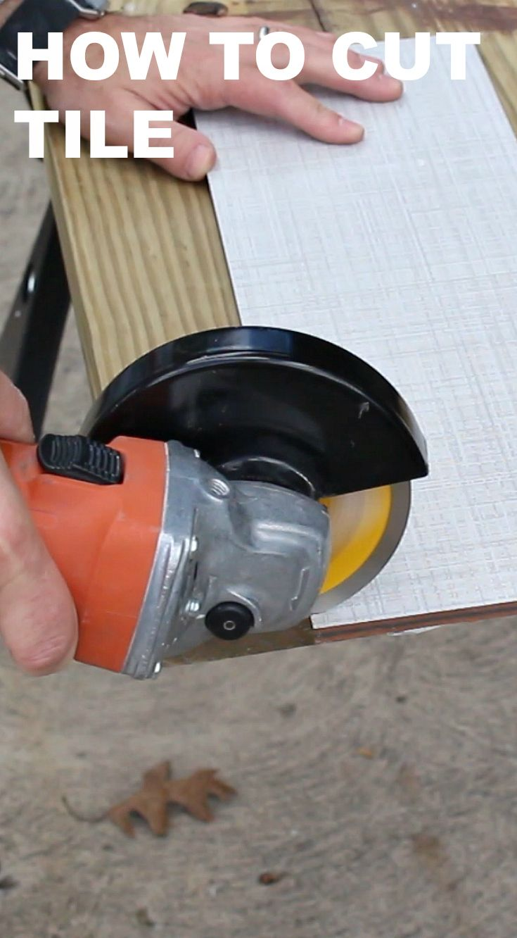 Learn How To Cut Bathroom Tiles With An Angle Grinder   This Is A Must For