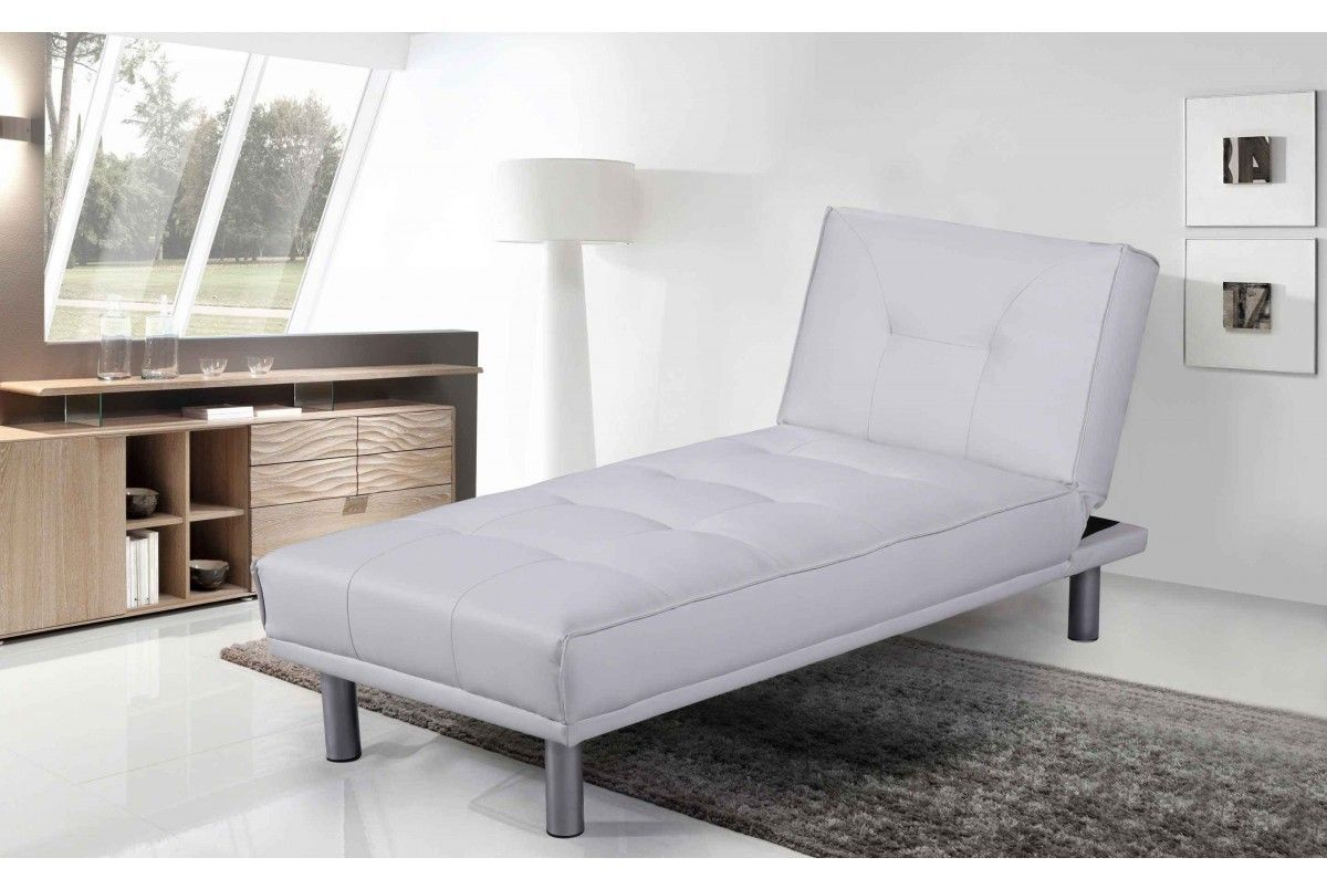 Tantra chair dimensions  Miami White Leather Chaise Longue u Bed  Bedroom  Pinterest