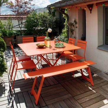 Table carrée pliante 130 x 130 cm FERMOB Cargo, Table de Jardin ...