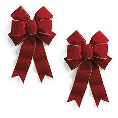 Christmas Tree Ribbon - Christmas Tree Bows - Christmas Wreath Bows - Frontgate