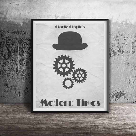 Movie poster printModern Times-movie by OandBstudios on Etsy