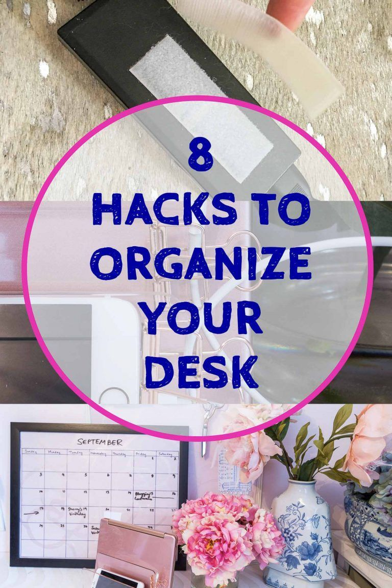 8 desk organization hacks that will boost your on beautiful home desk organization ideas make comfortable what it will do for you id=60727