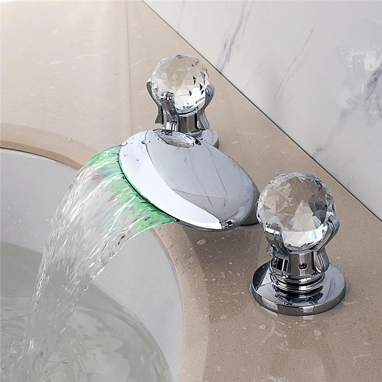 Led洗面蛇口バス水栓冷熱混合栓浴室蛇口浴槽水栓水道蛇口2ハンドル水流