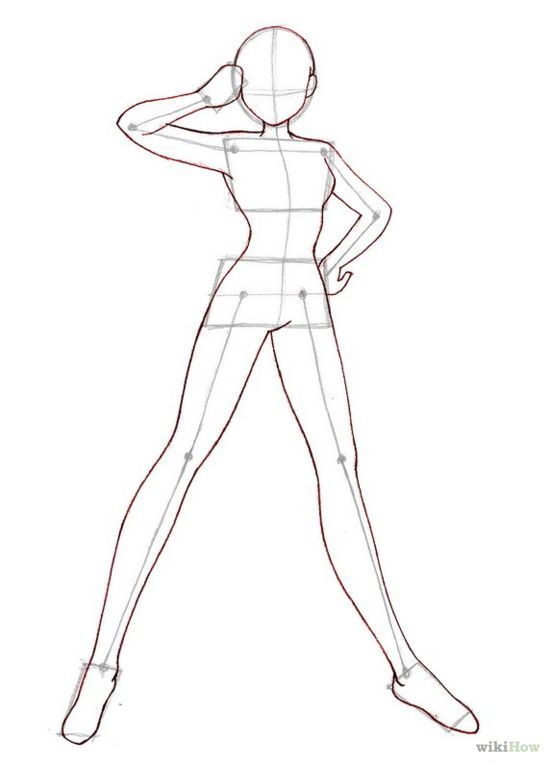 Anime step by step drawing body how to draw anime