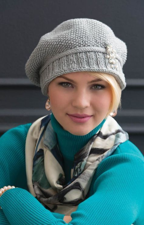 Free Pattern For Stylish Knitted Cap Combo Sets Pinterest Free