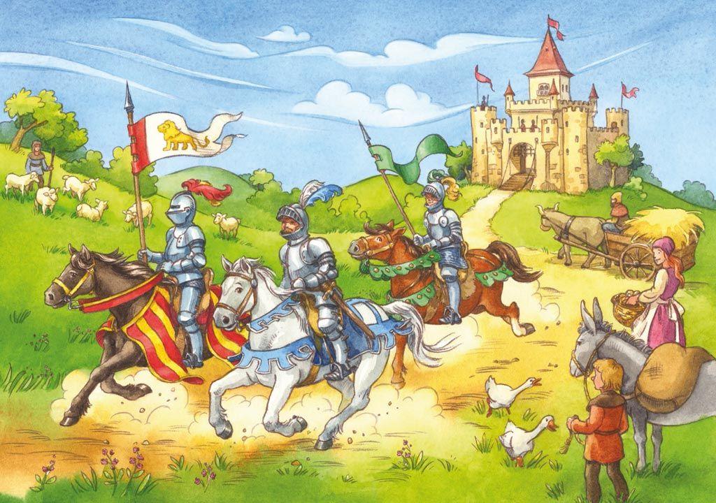 Ridders en prinsessen praatplaat ridders ridders en for Werkbladen ridders en kastelen