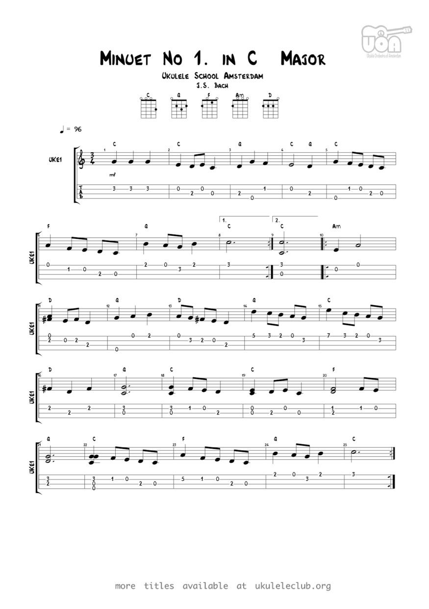 Pdf thumbnail should appear here seriously a ukelele the minuet in g major is a keyboard piece included in the 1725 notebook for anna magdalena bach until 1970 it was attributed to johann sebastian bach hexwebz Images