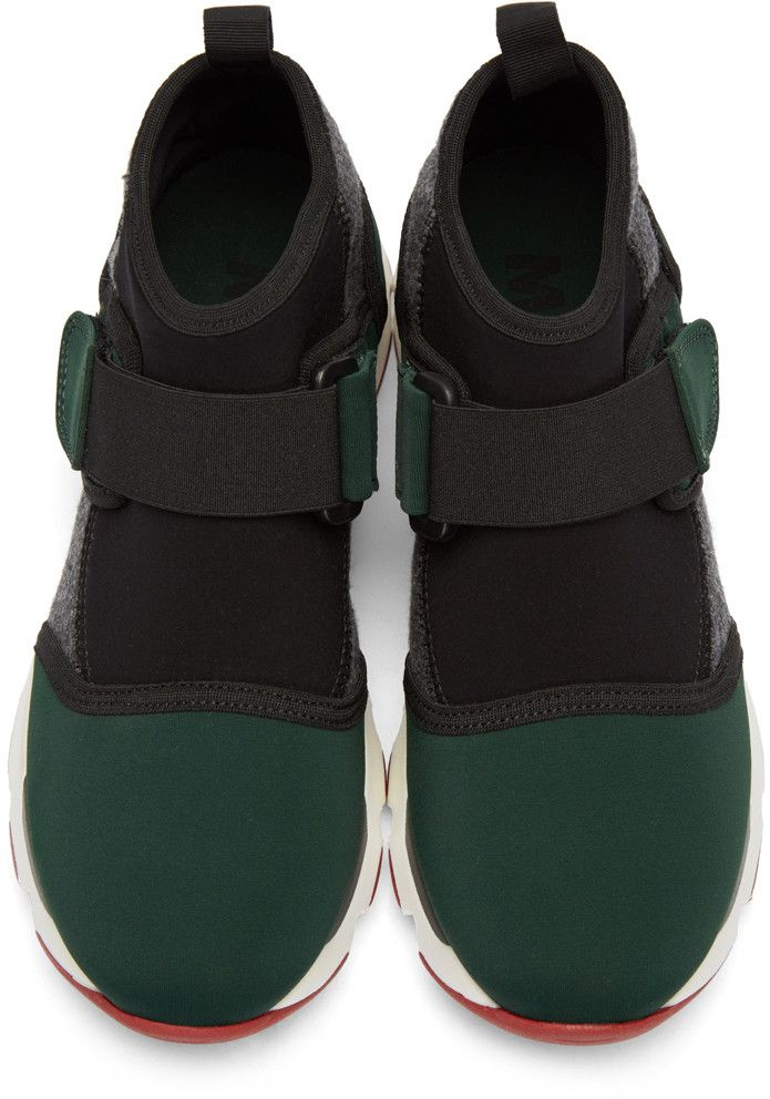 bf46ccf40fd Marni - Green Neoprene High-Top Sneakers   Shoes in 2019   Marni ...
