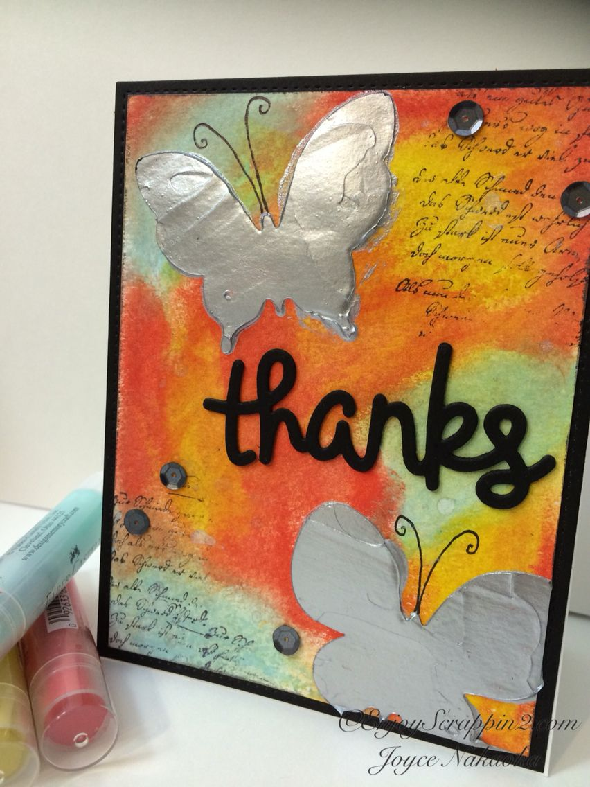 Faber-Castell Design Memory Craft™ Dimension with Gelatos® Tutorial available http://enjoyscrappin2.com