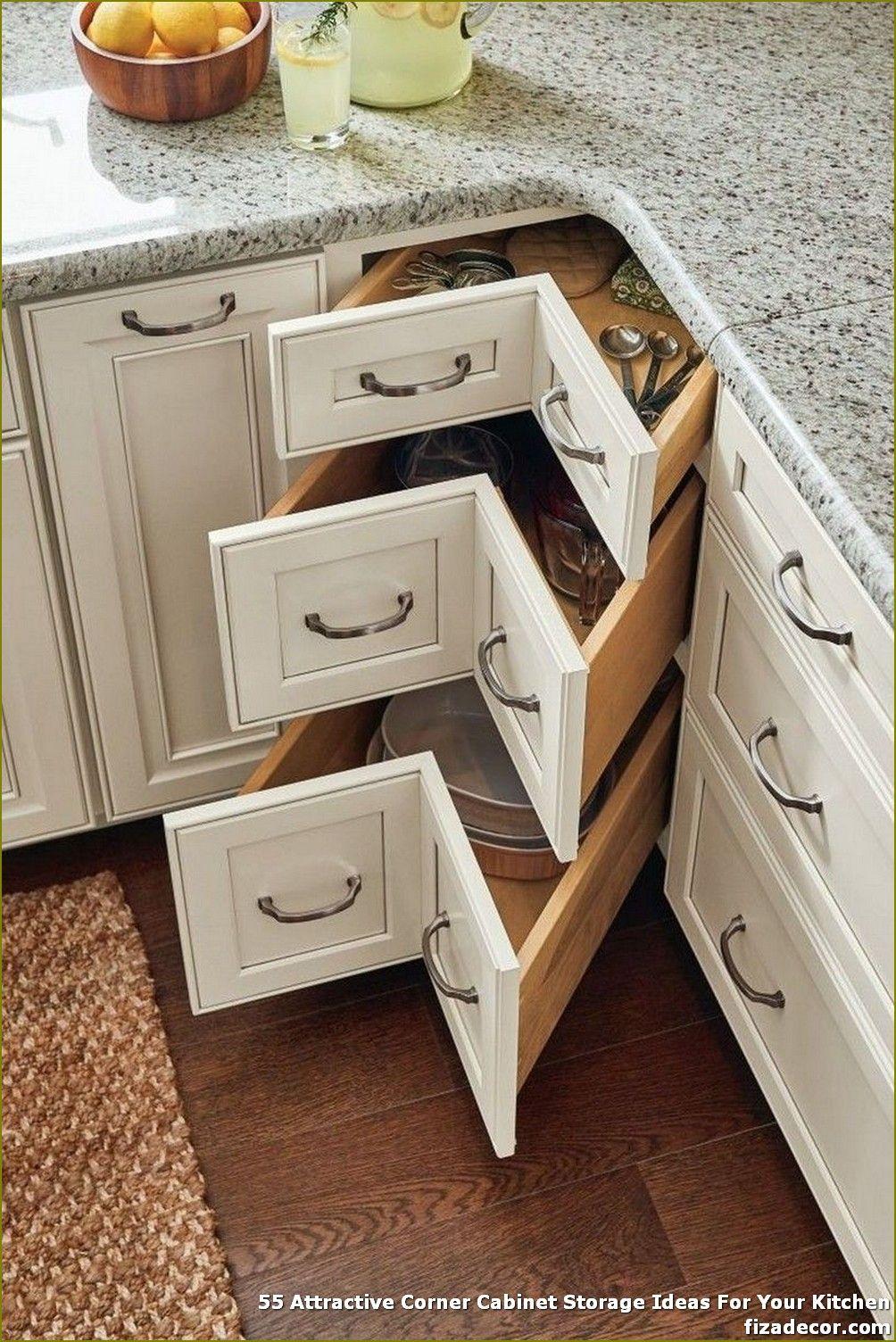 55 Attractive Corner Cabinet Storage Ideas For Your Kitchen