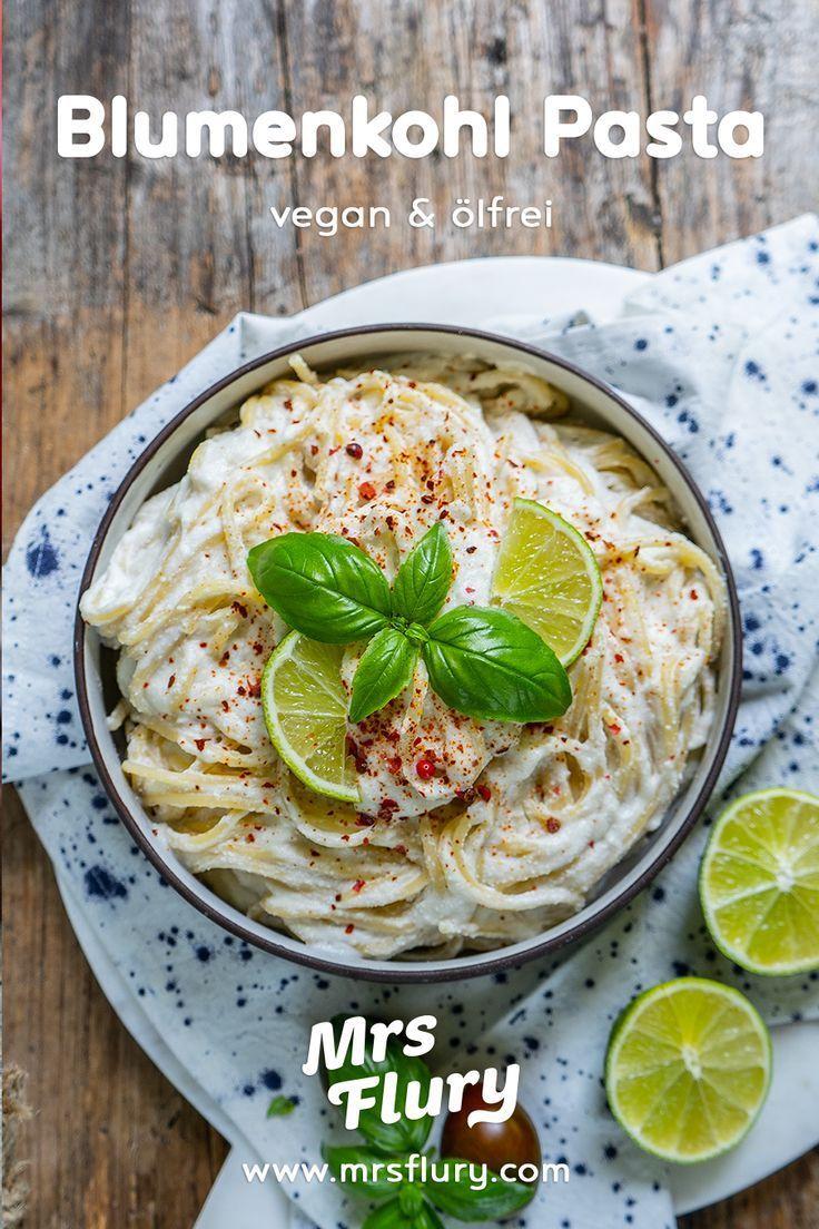Gesunde Blumenkohl Pasta - vegan & ölfrei - Mrs Flury