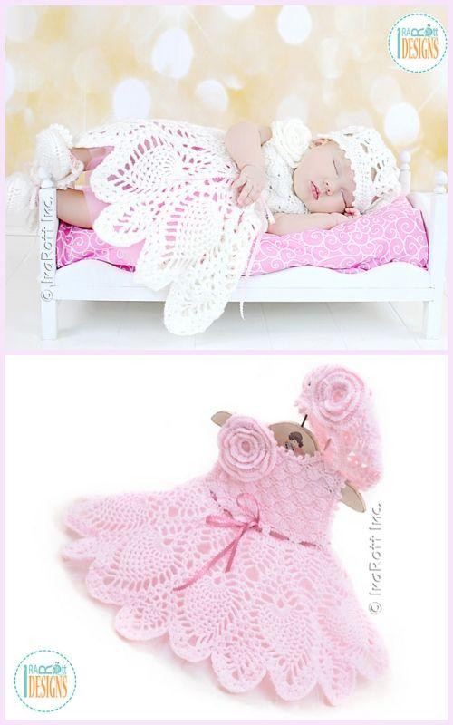 Crochet Pineapple Baby Dress Free Crochet Patterns - Video | crochet ...