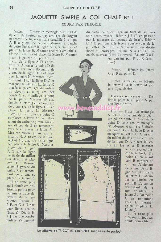 FREEBOOK vintage « Coupe et Couture » 1935 avec 20 patrons de corsages, robes et vestes GRATUITS ...