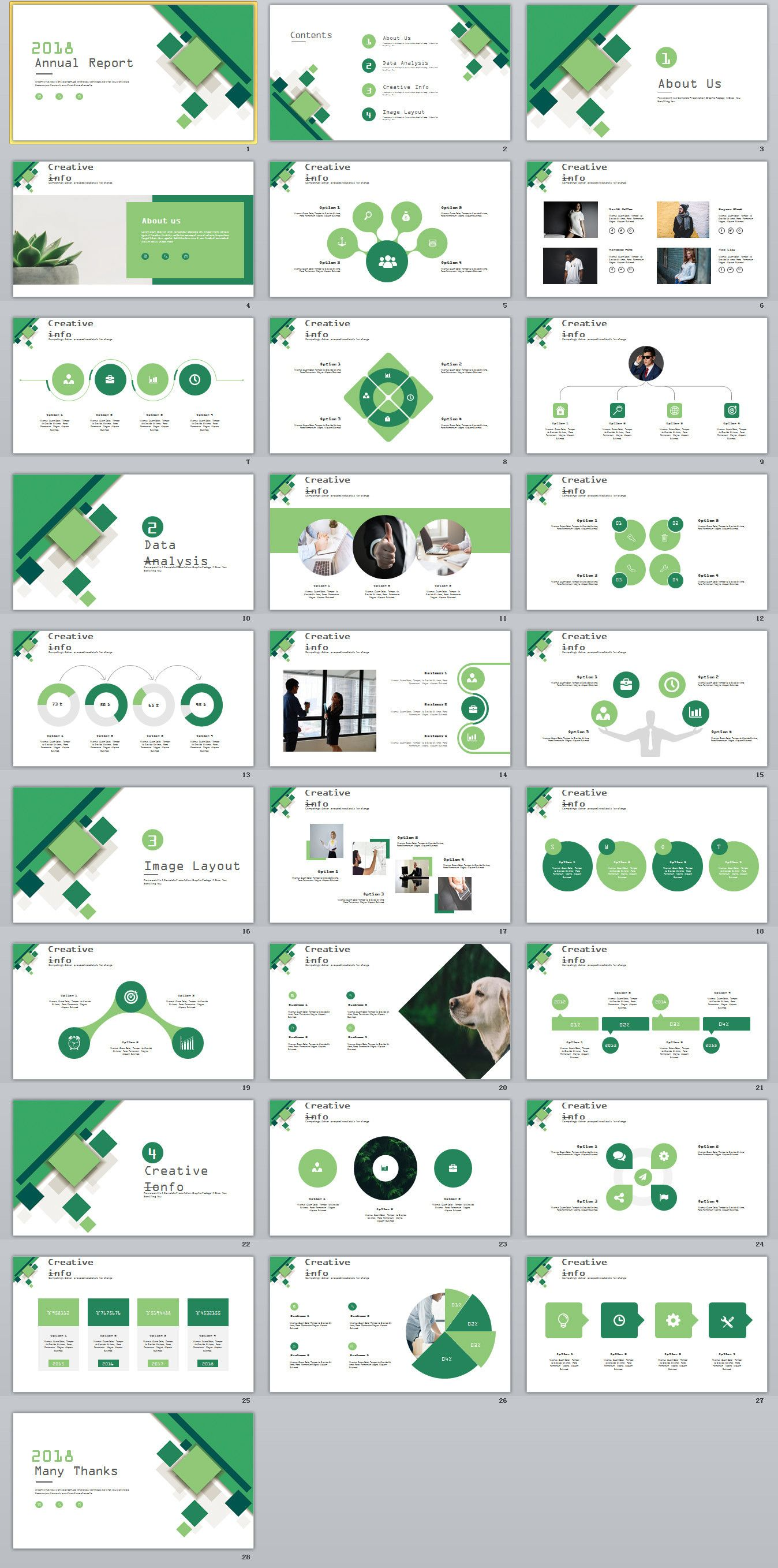 28+ green business annual report charts PowerPoint Template ...
