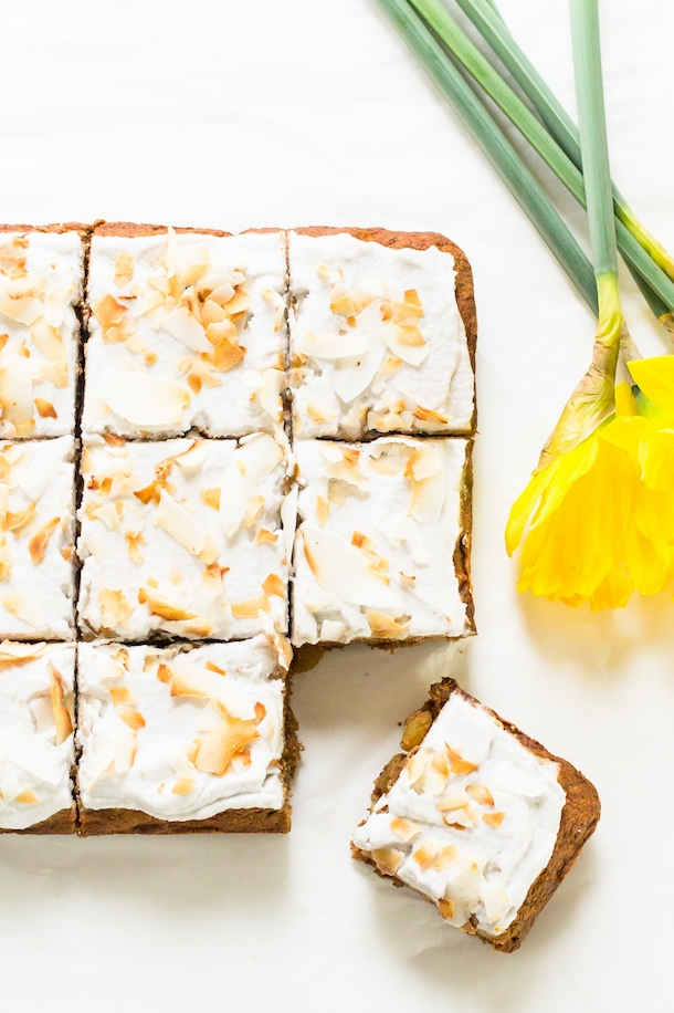 Paleo Carrot Cake with Coconut Whipped \ #cupcake #sweetstuff