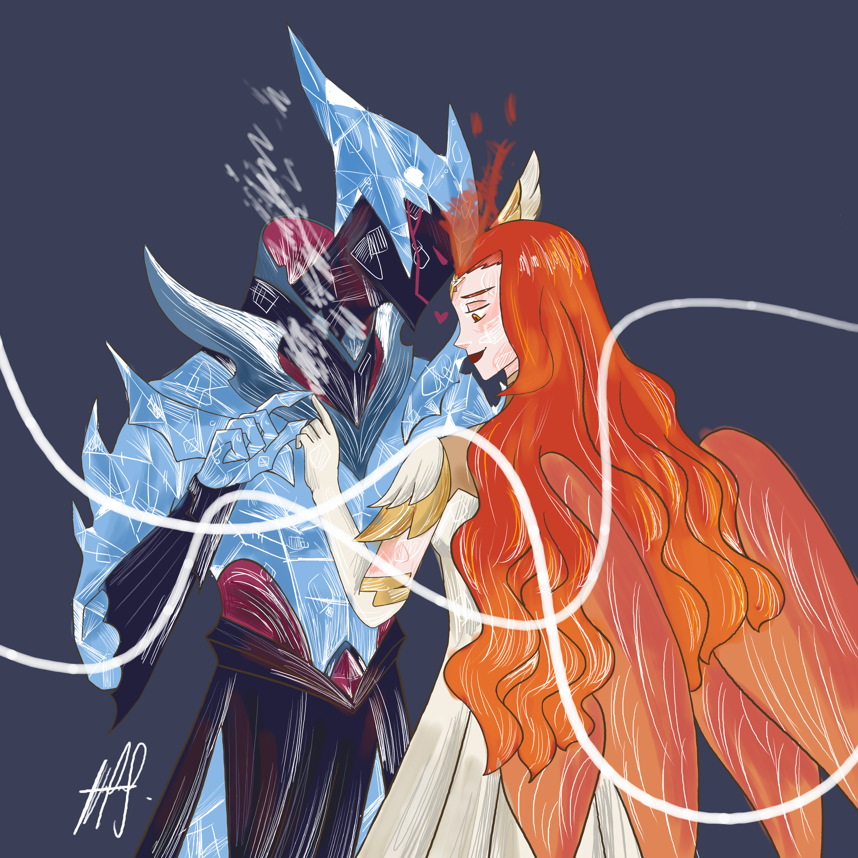 Steam Talene And Khazard This Was Just A Ship That I Thought Of But Now I M Hooked Because Aaaaaaaa White Squig Igrovye Arty Iskusstvo Risunka Iskusstvo