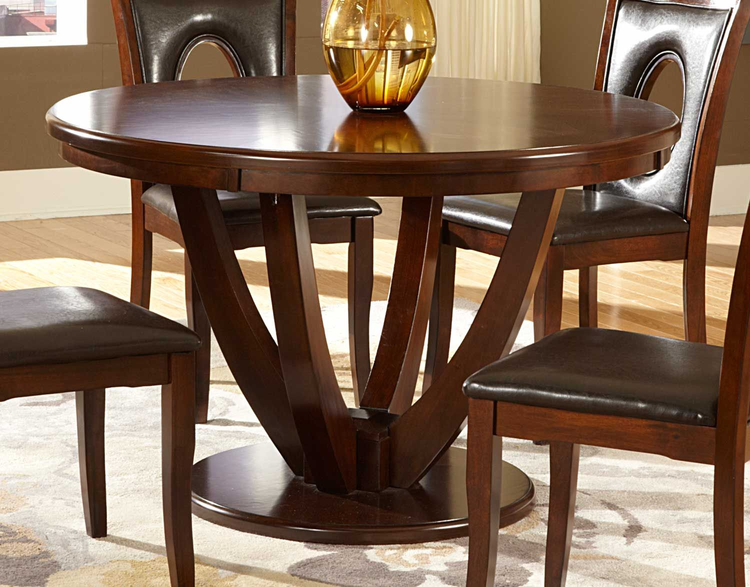 Homelegance Vanbure Round Dining Table Cherry With Images