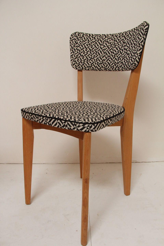 petites chaises vintage en tissus knoll chairs. Black Bedroom Furniture Sets. Home Design Ideas