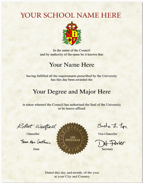 custom diploma helps you to create your own fake international