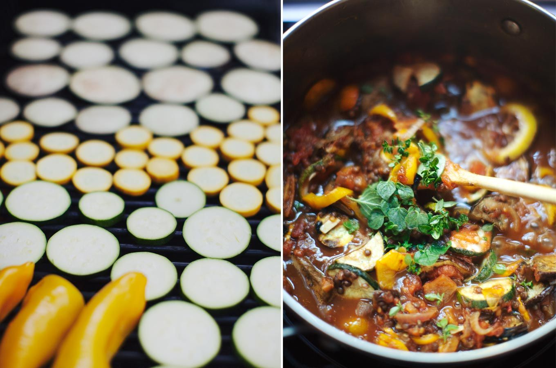 Grilled vegetable ratatouille