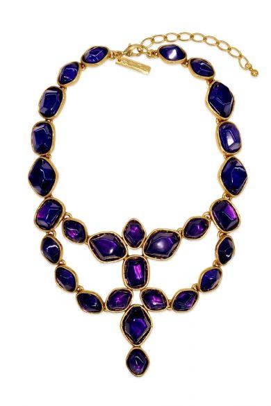 Deep Amethyst Statement Necklace - Wedding Jewelry by Oscar de la Renta - Loverly