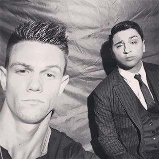 These guys are ready for the weekend. #TheVoice #regram @nickhagelin w/ @joevivona