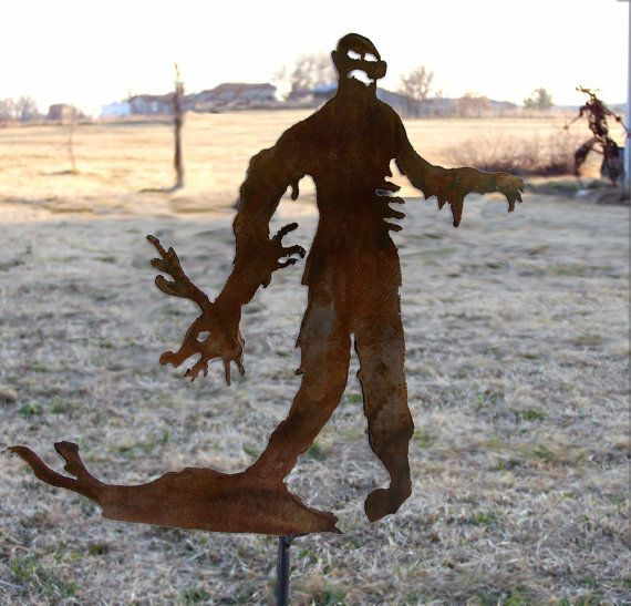 Zombie Reindeer Destroyer Christmas Stake by gardenstake on Etsy, $13.50? Oh no! Poor Rudolph!