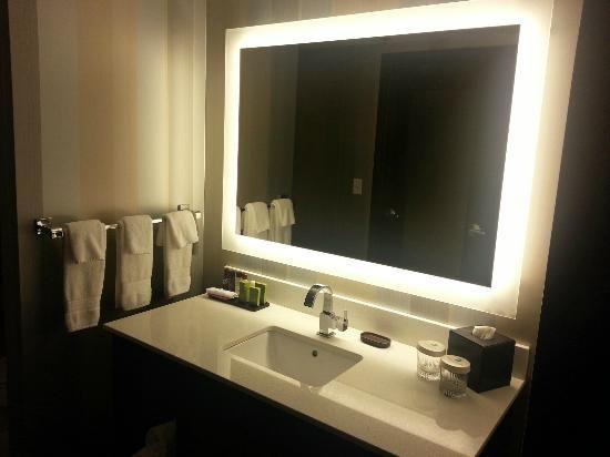 Backlit bathroom mirror master bath pinterest backlit backlit bathroom mirror aloadofball Gallery