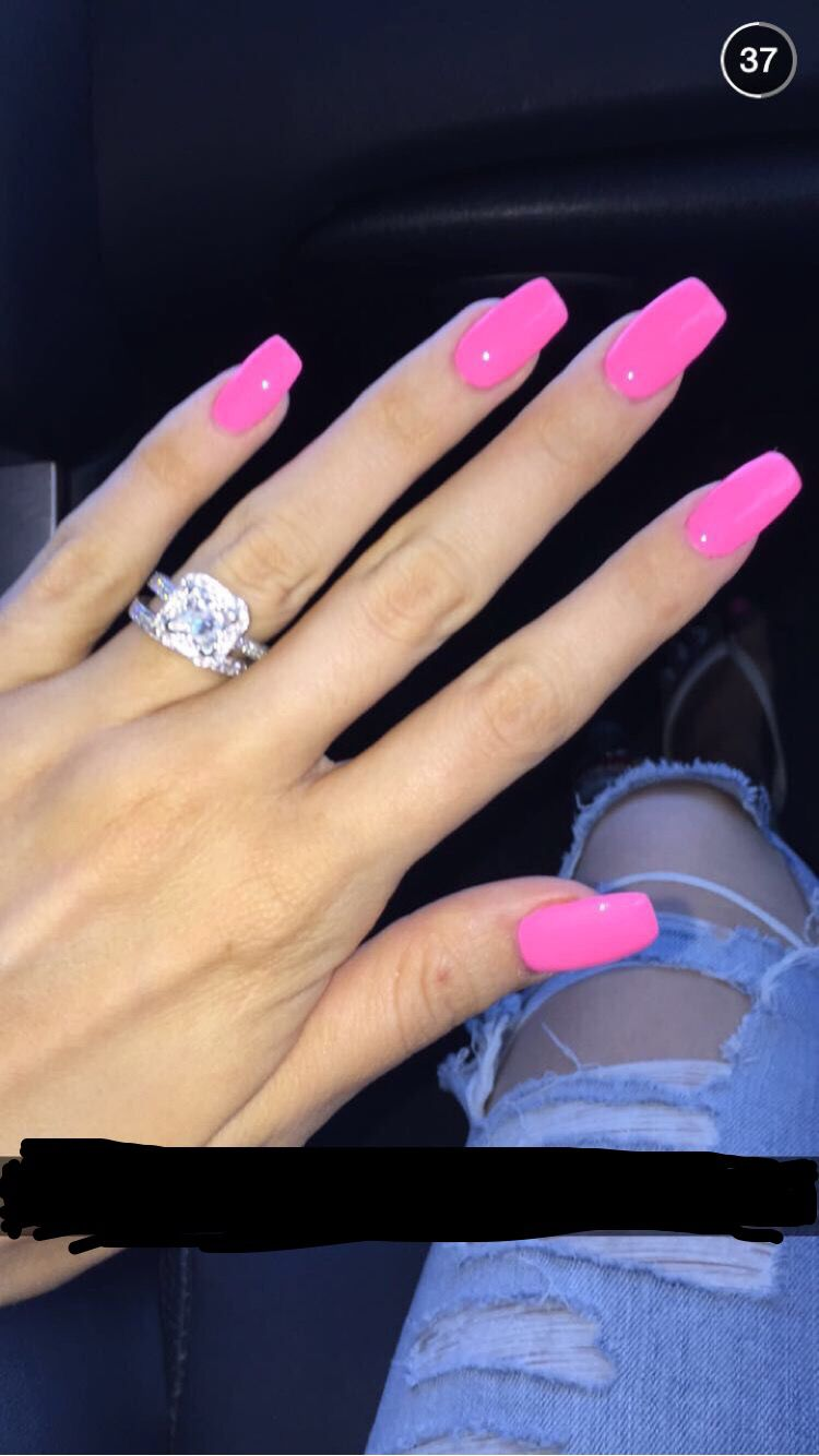 Pink Acrylic Nails The Color Not The Length Pink Nails Pink Acrylic Nails Nail Designs