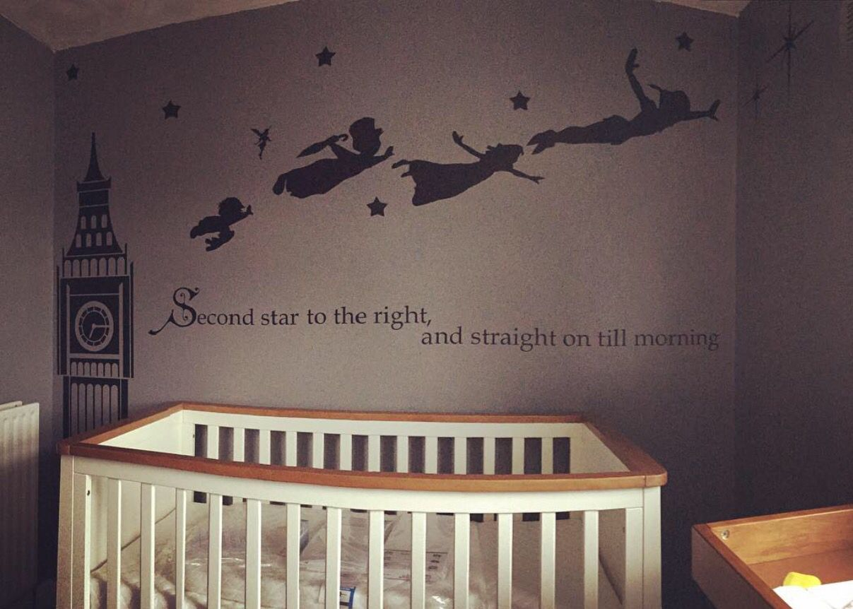Peter pan nursery baby new born my baby for Stickers disney chambre bebe