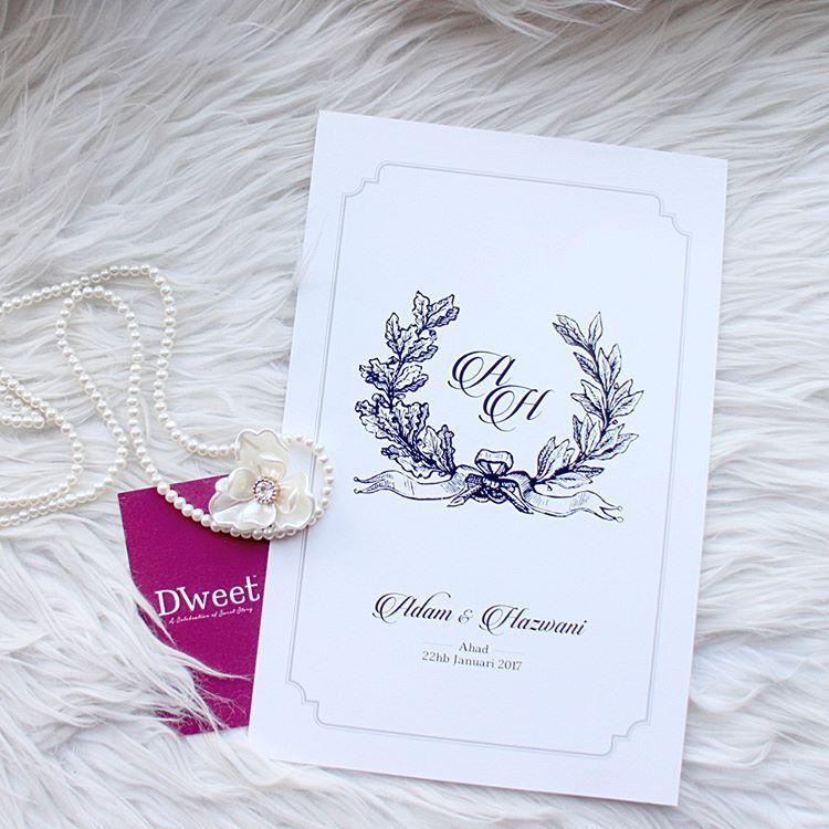 Dweetcardwhite Royal 10 Koleksi White Royal Khas Untuk Mereka Yang Menyukai Design Simple Tetapi Kel Wedding Cards Kad Kahwin Wedding Logos